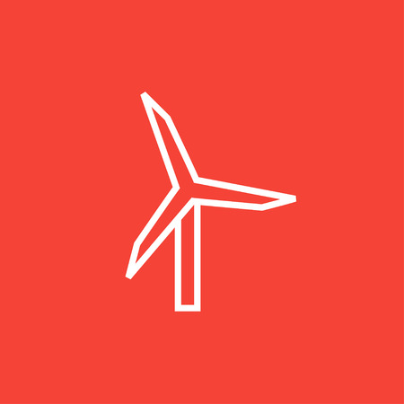 spinning windmill: Windmill thick line icon with pointed corners and edges for web, mobile and infographics. Vector isolated icon.
