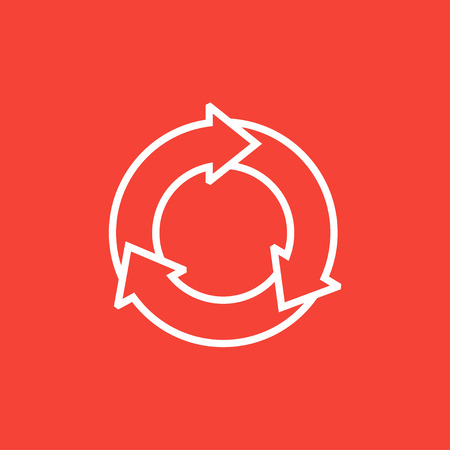 pointed arrows: Arrows circle thick line icon with pointed corners and edges for web, mobile and infographics. Vector isolated icon.