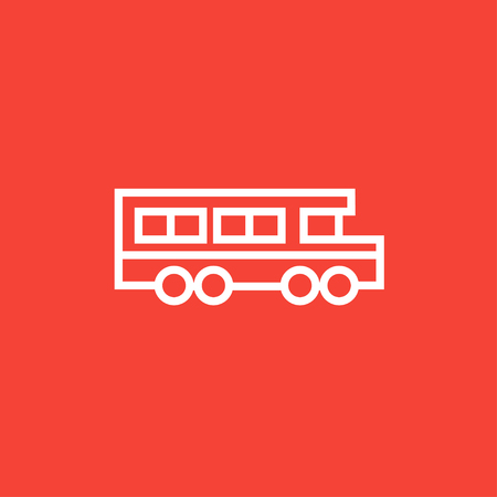 schoolbus: School bus thick line icon with pointed corners and edges for web, mobile and infographics. Vector isolated icon.