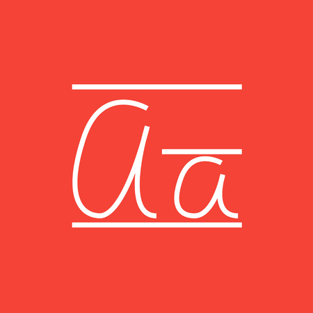 cursive: Cursive letter a thick line icon with pointed corners and edges for web, mobile and infographics. Vector isolated icon.