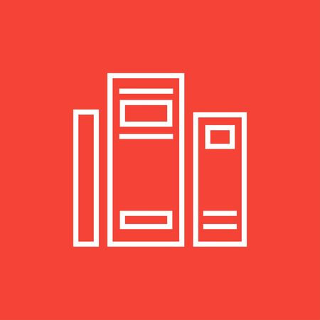 classbook: Books thick line icon with pointed corners and edges for web, mobile and infographics. Vector isolated icon. Illustration
