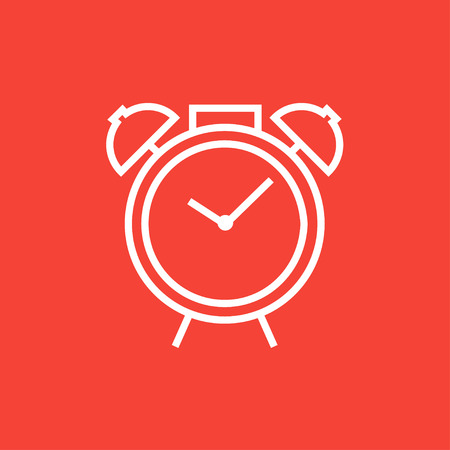 Alarm clock thick line icon with pointed corners and edges for web, mobile and infographics. Vector isolated icon. Ilustração