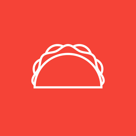 Taco thick line icon with pointed corners and edges for web, mobile and infographics. Vector isolated icon. Stock Illustratie