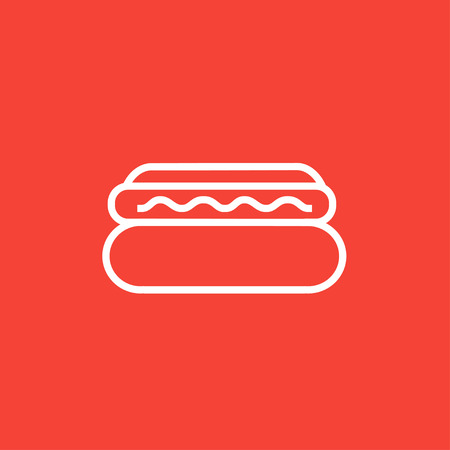 Hotdog thick line icon with pointed corners and edges for web, mobile and infographics. Vector isolated icon. Ilustração