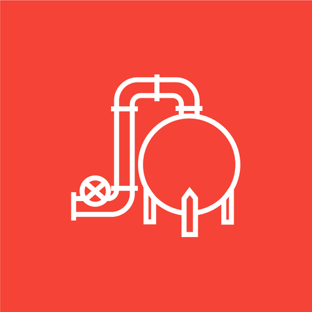 Factory thick line icon with pointed corners and edges for web, mobile and infographics. Vector isolated icon. Illustration