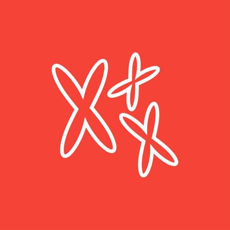 Chromosomes thick line icon with pointed corners and edges for web, mobile and infographics. Vector isolated icon. Stock Illustratie