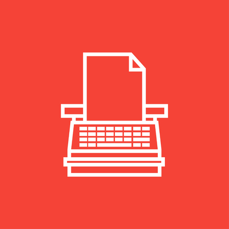 Typewriter thick line icon with pointed corners and edges for web, mobile and infographics. Vector isolated icon. 向量圖像
