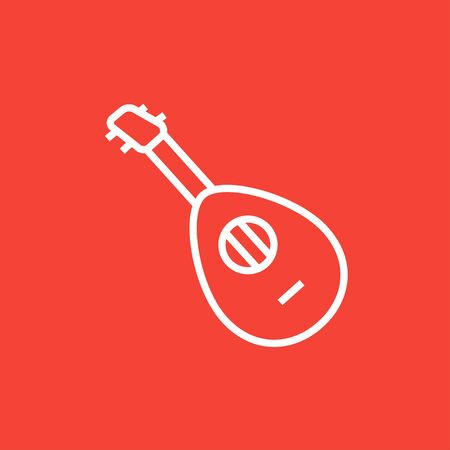 mediator: Mandolin thick line icon with pointed corners and edges for web, mobile and infographics. Vector isolated icon. Illustration