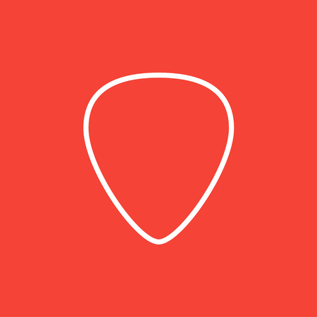 Guitar pick thick line icon with pointed corners and edges for web, mobile and infographics. Vector isolated icon.
