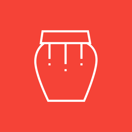 Drum instrument thick line icon with pointed corners and edges for web, mobile and infographics. Vector isolated icon.