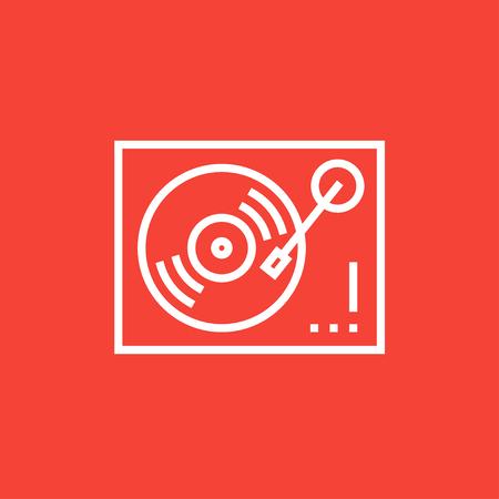 Turntable thick line icon with pointed corners and edges for web, mobile and infographics. Vector isolated icon.  イラスト・ベクター素材