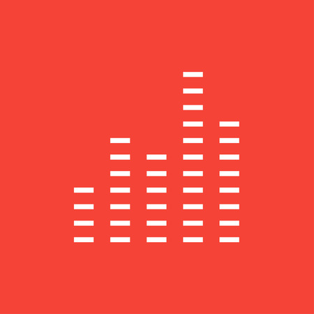 soundtrack: Digital equalizer thick line icon with pointed corners and edges for web, mobile and infographics. Vector isolated icon. Illustration