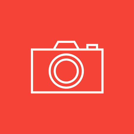 Camera thick line icon with pointed corners and edges for web, mobile and infographics. Vector isolated icon.