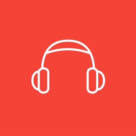 Headphone thick line icon with pointed corners and edges for web, mobile and infographics. Vector isolated icon.
