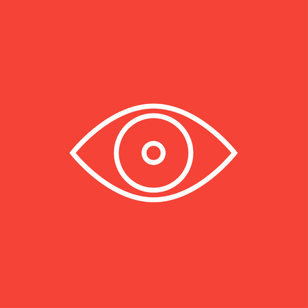 shortsighted: Eye thick line icon with pointed corners and edges for web, mobile and infographics. Vector isolated icon. Illustration