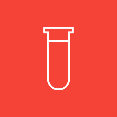 blood draw: Test tube thick line icon with pointed corners and edges for web, mobile and infographics. Vector isolated icon. Illustration