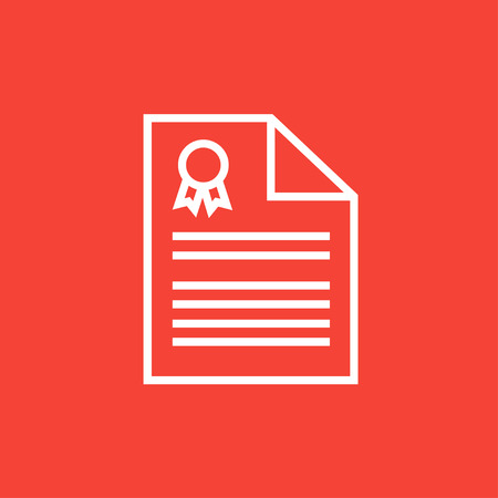 Real estate contract thick line icon with pointed corners and edges for web, mobile and infographics. Vector isolated icon.