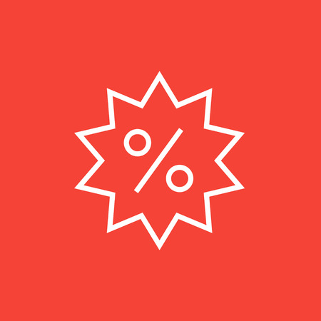 selloff: Discount tag thick line icon with pointed corners and edges for web, mobile and infographics. Vector isolated icon.