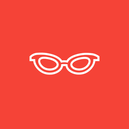 Eyeglasses thick line icon with pointed corners and edges for web, mobile and infographics. Vector isolated icon. Illustration