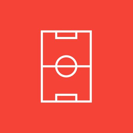 Stadium layout thick line icon with pointed corners and edges for web, mobile and infographics. Vector isolated icon. Illustration