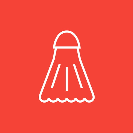 Shuttlecock thick line icon with pointed corners and edges for web, mobile and infographics. Vector isolated icon. Illustration