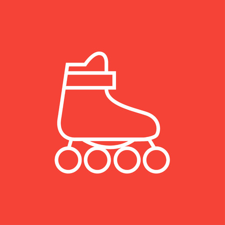 rollerskate: Roller skate thick line icon with pointed corners and edges for web, mobile and infographics. Vector isolated icon.