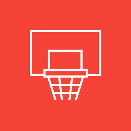 Basketball hoop thick line icon with pointed corners and edges for web, mobile and infographics. Vector isolated icon. 일러스트