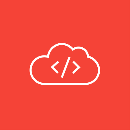 Transferring files cloud apps thick line icon with pointed corners and edges for web, mobile and infographics. Vector isolated icon.