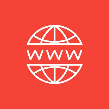 url: Globe internet thick line icon with pointed corners and edges for web, mobile and infographics. Vector isolated icon. Illustration