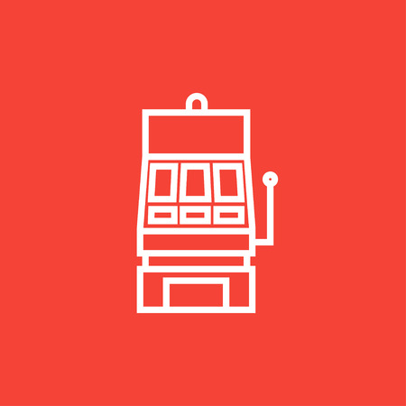 Slot machine thick line icon with pointed corners and edges for web, mobile and infographics. Vector isolated icon. Illusztráció