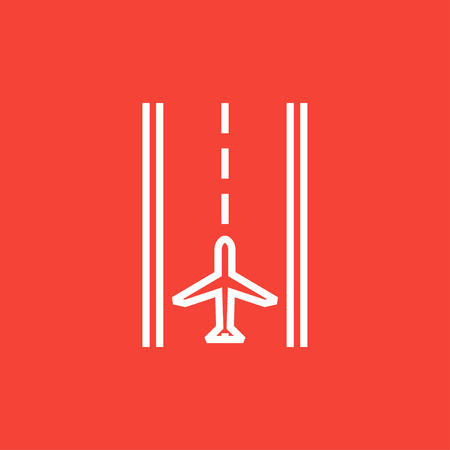 airport runway: Airport runway thick line icon with pointed corners and edges for web, mobile and infographics. Vector isolated icon. Illustration
