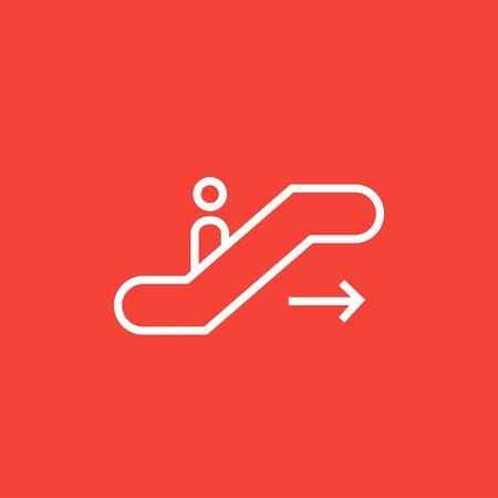 Gangway of the plane thick line icon with pointed corners and edges for web, mobile and infographics. Vector isolated icon.