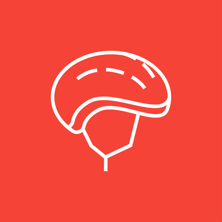 head injury: Bicycle helmet thick line icon with pointed corners and edges for web, mobile and infographics. Vector isolated icon.