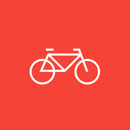 road cycling: Bicycle thick line icon with pointed corners and edges for web, mobile and infographics. Vector isolated icon. Illustration