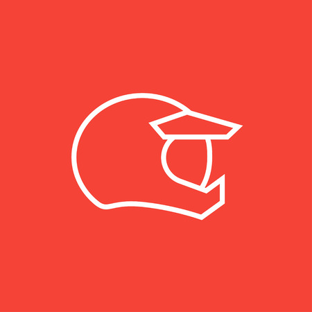 Motorcycle helmet thick line icon with pointed corners and edges for web, mobile and infographics. Vector isolated icon. Illustration