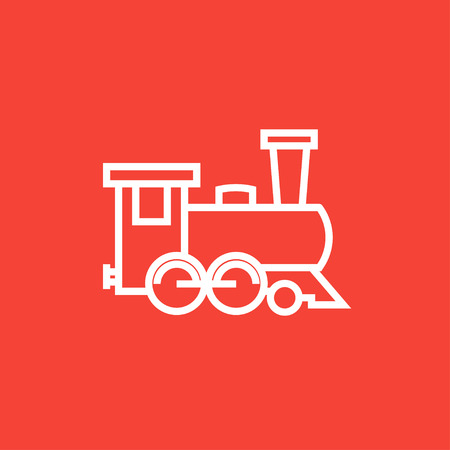 Train thick line icon with pointed corners and edges for web, mobile and infographics. Vector isolated icon.