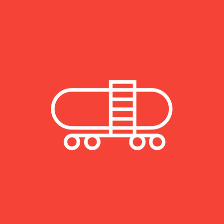 cistern: Railway cistern thick line icon with pointed corners and edges for web, mobile and infographics. Vector isolated icon. Illustration