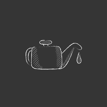 Oiler. Hand drawn in chalk vector isolated icon for web, mobile and infographics.
