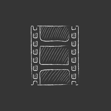 Negative. Hand drawn in chalk vector isolated icon for web, mobile and infographics. Illustration