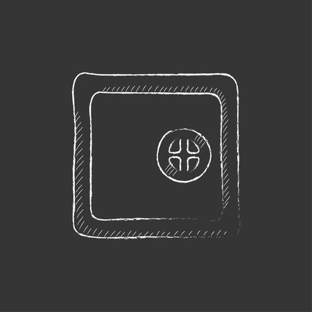 Safe. Hand drawn in chalk vector isolated icon for web, mobile and infographics.