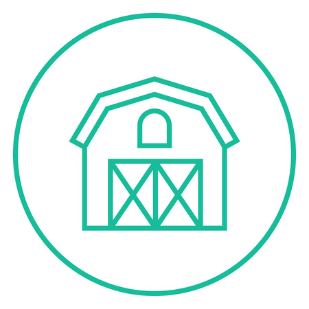 grain storage: Farm building thick line icon with pointed corners and edges for web, mobile and infographics. Vector isolated icon. Illustration
