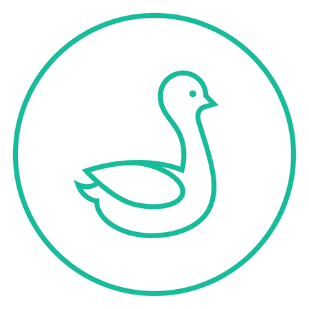 drake: Duck thick line icon with pointed corners and edges for web, mobile and infographics. Vector isolated icon. Illustration