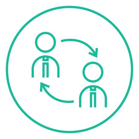 Le roulement du personnel icône de la ligne épaisse avec des coins pointus et des bords pour le web, le mobile et infographies. Vector icône isolé.