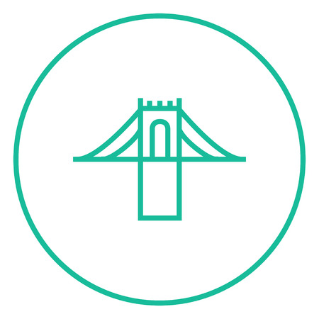 steel bridge: Bridge thick line icon with pointed corners and edges for web, mobile and infographics. Vector isolated icon. Illustration