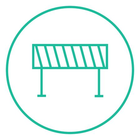 Road barrier thick line icon with pointed corners and edges for web, mobile and infographics. Vector isolated icon.