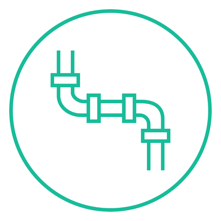 Water pipeline thick line icon with pointed corners and edges for web, mobile and infographics. Vector isolated icon.  イラスト・ベクター素材