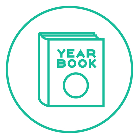 schoolmate: Yearbook thick line icon with pointed corners and edges for web, mobile and infographics. Vector isolated icon.