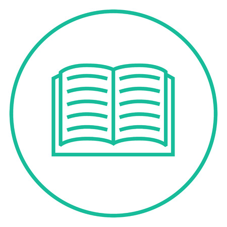 Open book thick line icon with pointed corners and edges for web, mobile and infographics. Vector isolated icon. Illustration