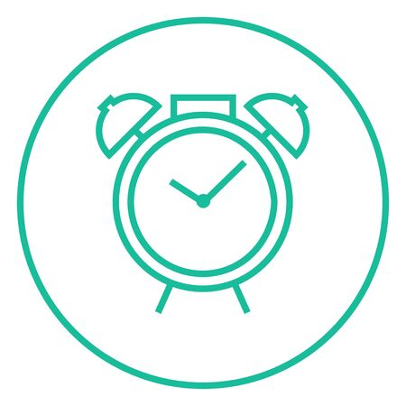Alarm clock thick line icon with pointed corners and edges for web, mobile and infographics. Vector isolated icon.  イラスト・ベクター素材