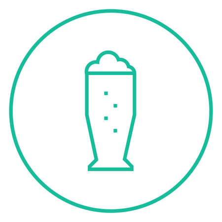 suds: Glass of beer thick line icon with pointed corners and edges for web, mobile and infographics. Vector isolated icon. Illustration